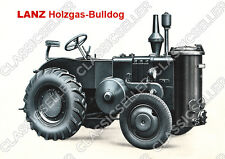 Lanz Holzgas-Bulldog Traktor Schlepper Poster Plakat Bild Schild Diesel
