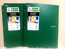 Lot of 2 NEW Mead 5 Star 2 Pocket quickly snaps in & out of binder poly Folders