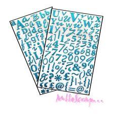 Dovecraft Autocollants À Paillettes lettres de L'alphabet Turquoise