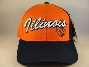 Illinois Illini NCAA Vintage Adjustable Strap Hat American Needle Orange Navy