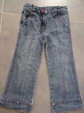 Pantalon jeans bleu gris surpiqûre rose TAPE A L'OEIL Taille 4 ans / 102 cm