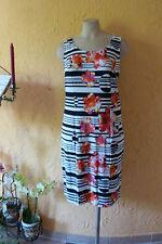 SAHNESTÜCK: TRAUMfarben Stretch Kleid Gr. 42 NEU! schwarz/weiß mit Blüten