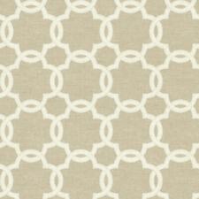 """Tan and Cream Trellis Print Linen Insipred Wallpaper Bolt - 20.5"""" x 396"""" Roll"""