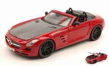Mercedes SLS AMG Roadster 2011 Red / Carbon 1:24 Model MAISTO