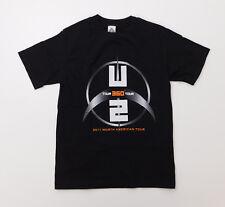 U2 360 Degrees 2011 Concert Tour Band Logo Black T Shirt Small (S)