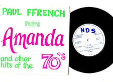 """""""DANCE"""".PAUL FFRENCH """"PLAYS"""" AMANDA + 7.UK ORIG 7"""" EP & PIC/SL.EX+"""