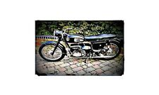 1960 velocette valiant Bike Motorcycle A4 Photo Poster