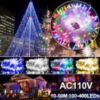 100-400 LED Fairy String Christmas Tree Party Lights Lamp Xmas Decor Waterproof