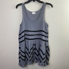 Intimately Free People Womens Sz S Voile Lace Trapeze Slip Dress Gray Polka Dot