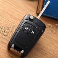 2BTN Car Remote Flip Key Fob Case & Uncut Blade For Vauxhall Opel Astra Insignia