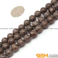"Natural Brown Jasper Gemstone Round Beads For Jewelry Making Strand 15""8mm 10mm"