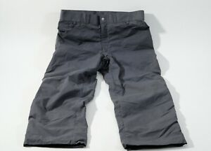 Patagonia capilene lined shell rain pants mens size 38 gray made in usa