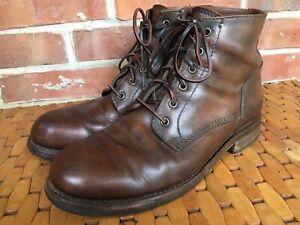 frye mens boots cognac brown 10 D