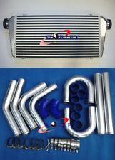"Universal 300x600x76mm intercooler + 3"" aluminium piping+blue Silicone Hose kit"