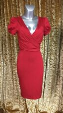 MANGO SUIT RED DRESS...BEAUTIFULLY RUCHED STYLE