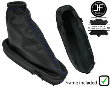 black stitch FITS FORD PUMA 97-01 2X FRONT SEAT BELT STALK LEATHER COVERS