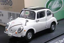 EBBRO 43311 1:43 SCALE SUBARU 360 YOUNG SS (1968) DIE CAST MODEL CAR WHITE