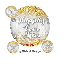 Party Supplies Wedding Happily Ever After  Orbz Foil Balloon