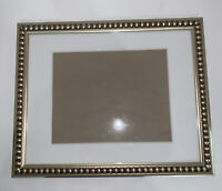 "Photo Frame Gold Gilt Ornate Victorian Holds 8x10"" Picture Wall Hanging Matted"