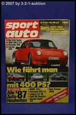 Sport Auto 10/86 Ruf 930 Turbo Porsche 959 Ferrari GTO