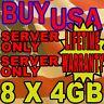 32GB KIT 8X4GB DELL FBDIMM PowerEdge 2950 1950 2950 1900 1955 R900 RAM MEMORY