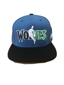 Minnesota T Wolves NEW mens Adidas Snapback cap hat NBA