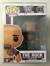 RETIRED Funko Pop WWE THE ROCK Figure (Dwayne Johnson WWF)