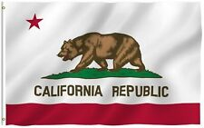 California Republic State Flag CA USA Bear Outdoor American Banner 3x5 NEW