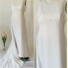 David's Bridal Wedding Gown w/ Train Gloria Vanderbilt Size 16