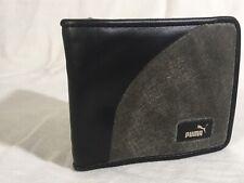 Puma Active Authentic Sport Bi Fold Street Skater Men's Wallet Gray Black