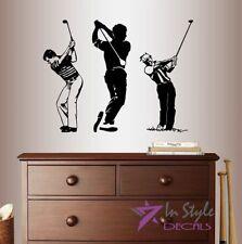 Vinyl Decal Golf Player Man Sports Golf Course Golfing  Sports Wall Sticker 1427