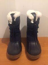 ARMANI EXCHANGE Reflective Navy Snow Boots Size 1.5 Junior/ EU 33 - 34 RRP £165