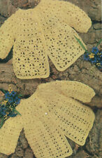"""BABY CROCHET PATTERN TO MAKE 20"""" Vintage Lacy Matinee Coats QKnit"""