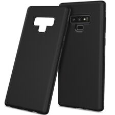 Samsung Galaxy Note 9 Handy Hülle Silikon Cover Case Handytasche Carbonfarben