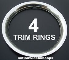 "SET OF 4 15"" Stainless Steel Wheel Trim Rings Beauty Rims Glamour Ring Rim Bands"