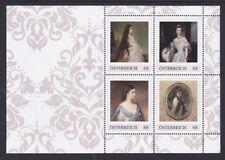 Postfr. Briefmarkenblock mit 4 PM mit Kaiserin Sisi, Nennwert je 0,68 €
