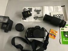 Ricoh KR5 Super (Complete camera Kit) Camera, Case, 3 lenses, flash.
