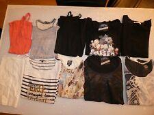 LOT de 10 vêtements Taille L = 18 ANS Junior FILLE Top Haut Tee-shirt Fille
