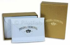 Crown Mill Luxury Letter Writing Correspondence Cards Stationery Set 7x10cm Blue