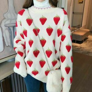 Korea Style Women Autumn Winter Long Sleeve O Neck Pullover Loose ThickSweaters