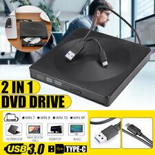 Slim External DVD RW CD Writer Drive USB 3.0 Burner Reader Player For Laptop PC!