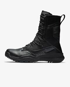 """New Nike SFB Field 2 8"""" Black Leather Tactical Boots Military Police Mens Size"""