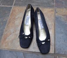 ULTIMATE SELECTION  EU 37 ~ UK4~ BLACK SUEDE COURTS OFFICE FORMAL MADE IN SPAIN