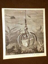 Invenzione del Sig. Toselli del 1875 Congegno di salvataggio e recupero in mare