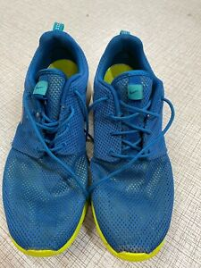 NIKE ROSHE BLUE/LIME  MENS WORN SIZE 8