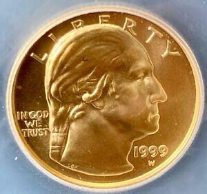 1999W Washington $5 gold commemorative MS69 ICG