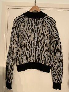 Free People Zebra print jumper Size M
