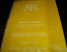 1985 86 87 88 89 90 91 Buick Electra Lesabre Parts/Illustrations Book P074.