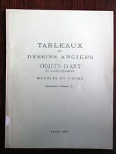 Catalogue de vente ADER 1937 Tableau Dessin ancien Mobilier XVIIIe siecle