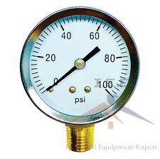 14 Npt Air Pressure Gauge 0 100 Psi Side Mount 2 Face Premium Quality Wog